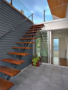 outside stairs exterior stair accessing roof terrace modern staircase seattle by jim burton architects