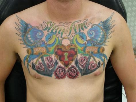 tattoo chest traditional traditional sparrow chest tattoo by rady tattoonow