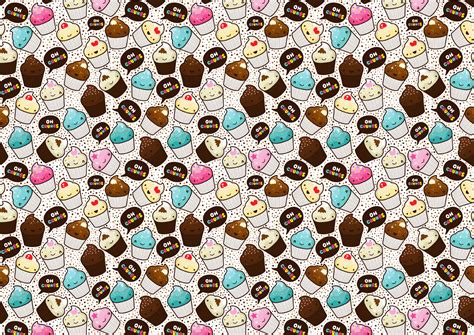 hd cupcake pattern wallpaper cupcakes wallpaper desktop
