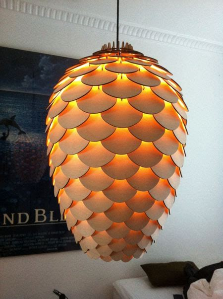 Pine Cone Light Fixtures Pinecone An Eco Friendly L Made From Birch Plywood Green Design