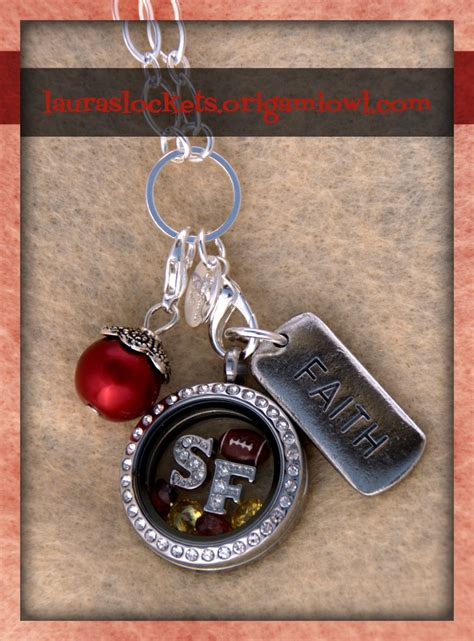 Origami Owl Clearance - bowl style san francisco 49ers football fans