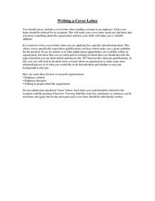 What To Include In A Cover Letter For A what to include in cover letter sle resume format