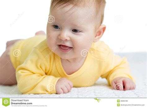 baby 4 months royalty free happy and healthy 4 months baby lying royalty free stock image image 26963186