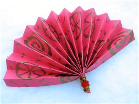 Paper Fan Craft For - juggling with new year activities