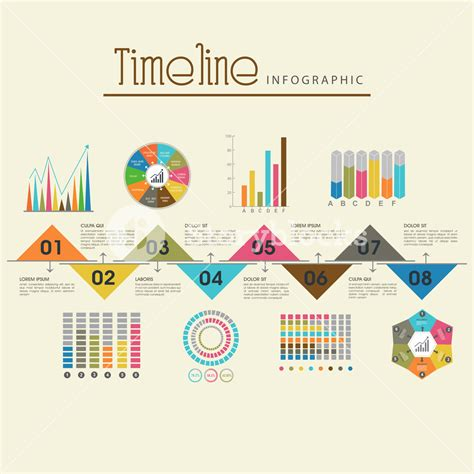 infographic layout template creative timeline infographic template layout with various