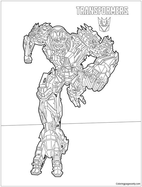 transformers coloring pages online transformers lockdown coloring page free coloring pages