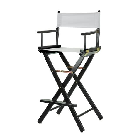 white makeup artist chair 30 quot director s chair black frame white canvas