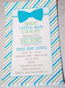 baby design bow tie baby shower invitations