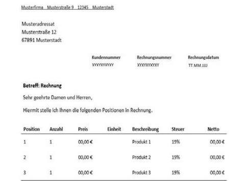 Rechnungsmuster Zahlung Rechnung F 252 R Freiberufler Vorlage Muster