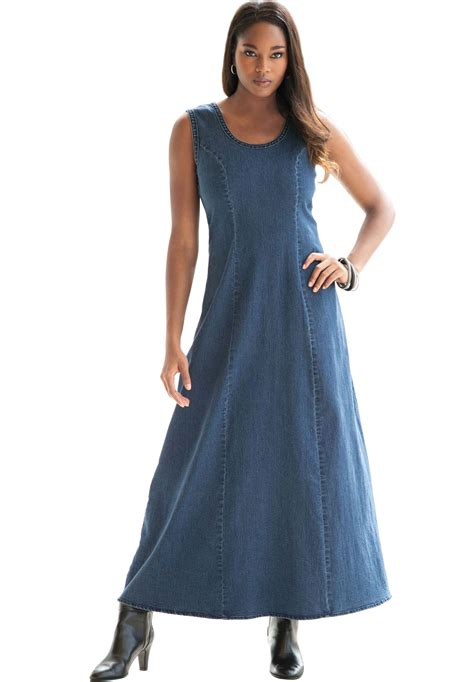 Denima Maxy Dress denim shirt maxi dress www imgkid the image