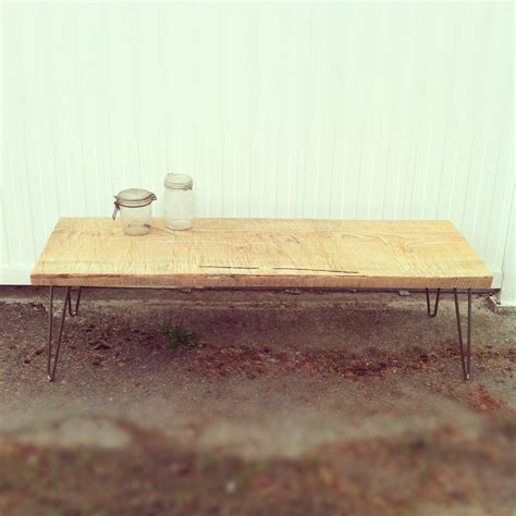 bench with chains hand made chain saw milled bench with hairpin legs by j s reclaimed wood custom