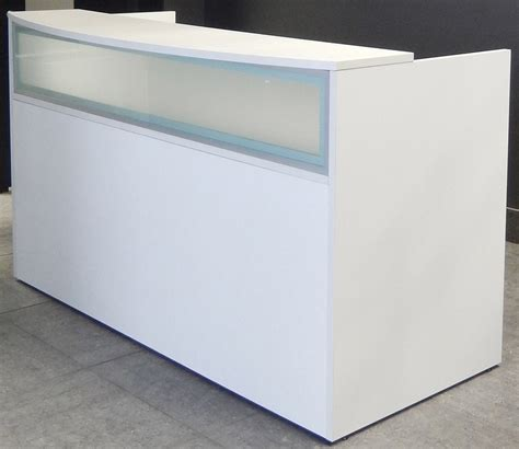 white salon reception desk