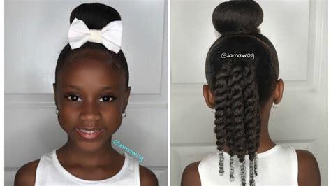 sock bun with natural black hair quick easy 10 min sock bun hairstyle 1 kids natural