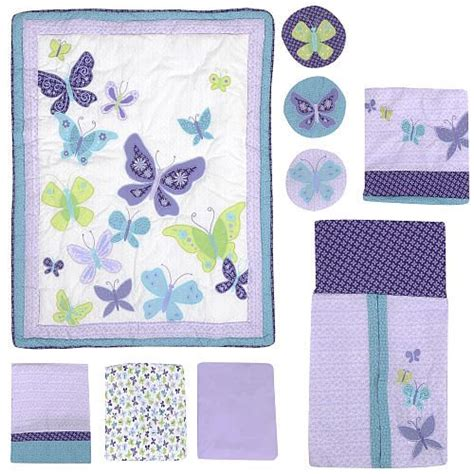 Nojo Beautiful Butterfly 9 Piece Crib Bedding Set
