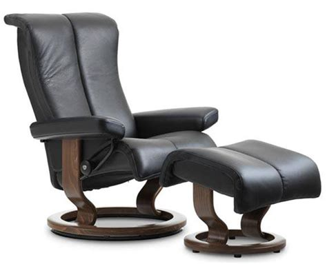 back saver classic recliner stressless piano classic wood base recliner chair by ekornes
