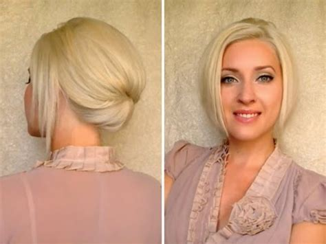 interview hairstyles for shoulder length hair short hair updo for work office job interview elegant