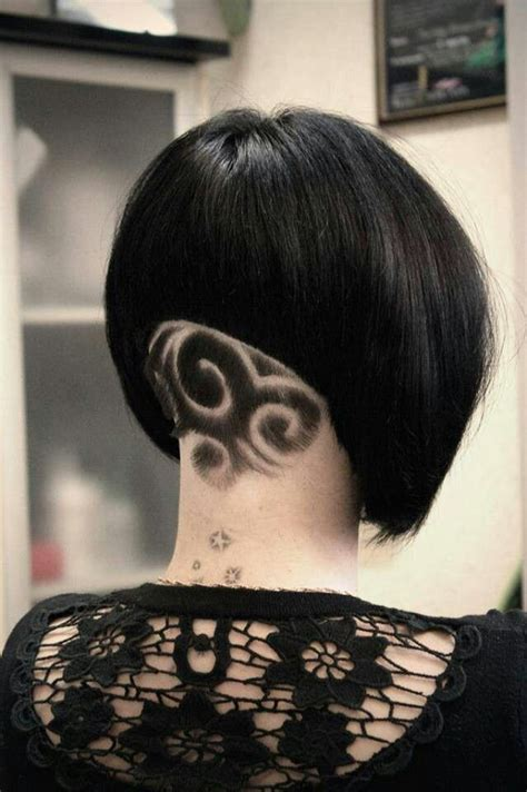 haircut neck designs 152 best images about shave it all off haircuts on