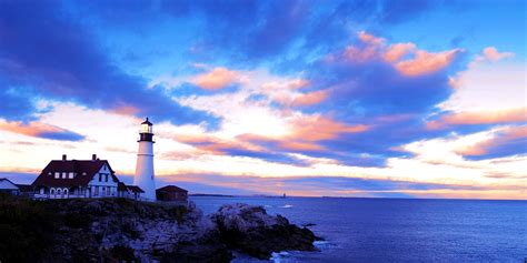 Wall Painting Colours by Sunset In Fork Williams Lighthouse Park Portland Maine