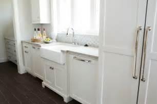 Beadboard Backsplash In Kitchen arabesque tile backsplash transitional kitchen