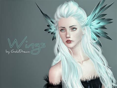 wings sims4 cc 175 best ts3 cc finds gothic fantasy medieval stuff