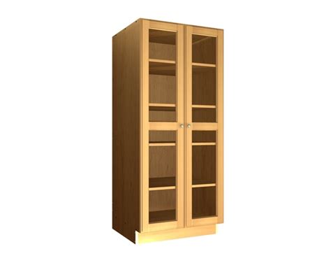 Pantry Cabinets With Doors by 2 Glass Door Pantry Cabinet