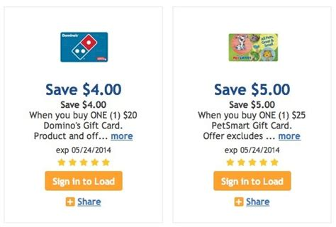 Kroger Gift Card Deals - kroger digital coupons for gift cards tons of options