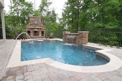 grand rapids pool outdoor fireplace outdoor kitchen and