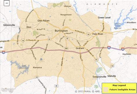 usda loan eligibility map burlington nc and mebane nc nc