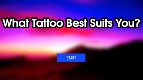 quiz what tattoo is right for you what tattoo best suits you