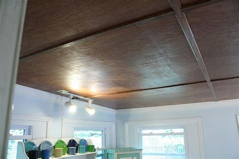 Plywood Ceiling Basement by Plywood Ceiling Home Farm House