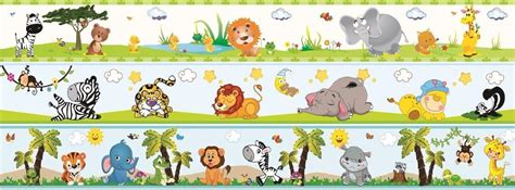 cenefas decorativas para bebes decoracion bebe cenefas y stickers animalitos