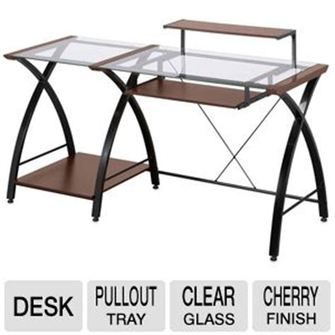 Z Line Brisa Desk by Z Line Brisa Zl4053 3dbu Desk Raised Monitor Shelf