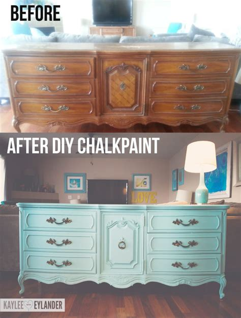 Chalk Paint Furniture Diy by Thrift Store Furniture Makeover Dresser