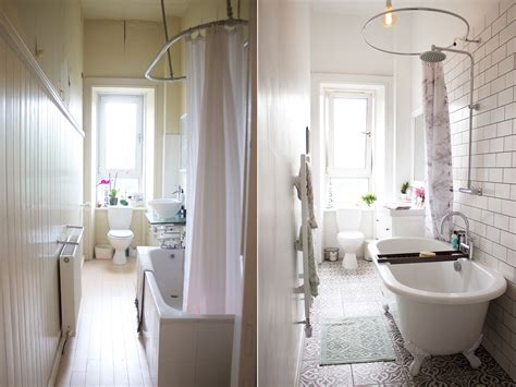 Bathroom Makeover by A Bathroom Makeover Before After Kate La Vie