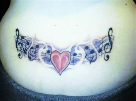 music note heart tattoo designs notes n design tattooshunt