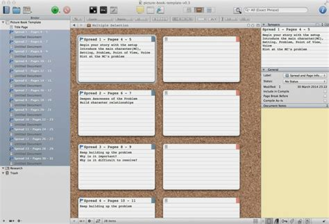 scrivener non fiction book template o brien writing a picture book in scrivener
