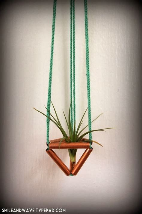 Diy Plant Hangers - diy himmeli air plant hanger from smile wave