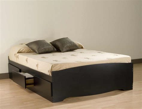 Cheap Platform Beds With Headboard by Cheap Size Platform Beds Including Bedroom Black Bed