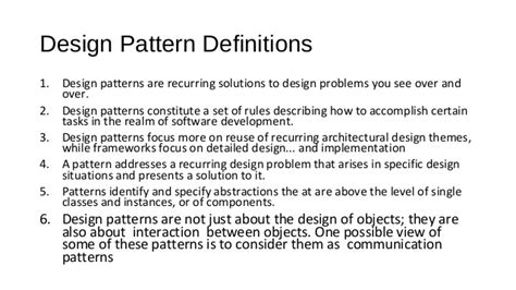 pattern of three definition design pattern in android
