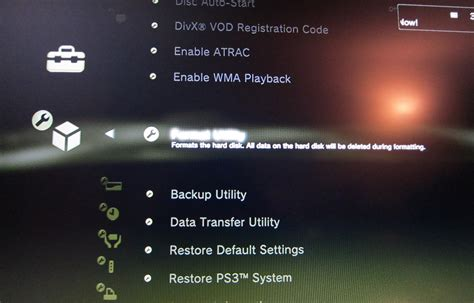 reset ps3 to video simple question on restore ps3 system tech support forum