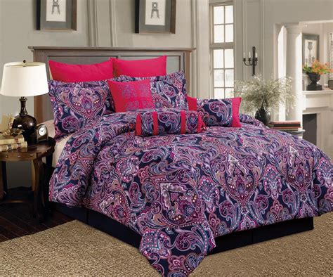 purple comforter set king 9 piece king castelli red purple comforter set ebay