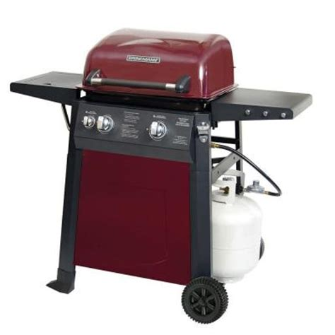brinkmann 2 burner propane gas grill with side burner 810 4221 s the home depot