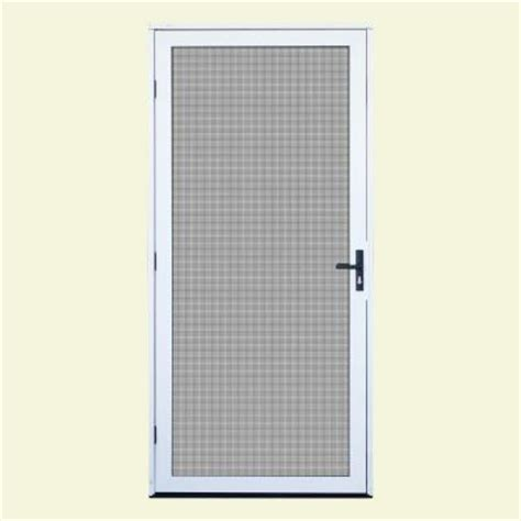 Outswing Door Security by Unique Home Designs 36 In X 80 In White Surface Mount