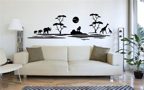 wandsticker kinderzimmer berge afrika tiere berge wandtattoo beliebte wandtattoo