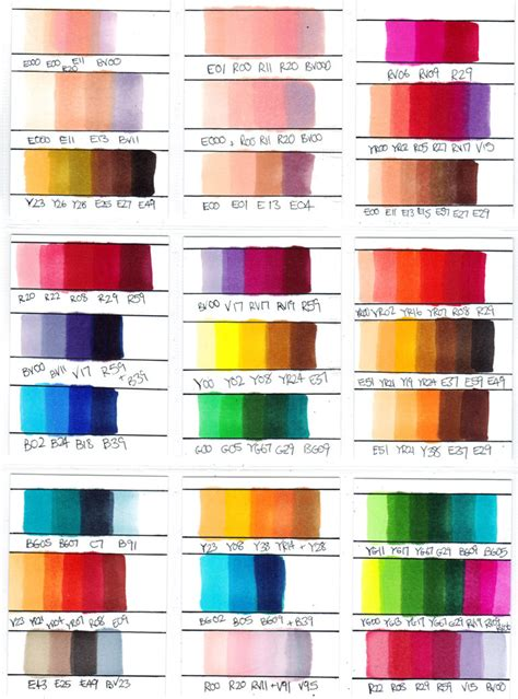 best combination of colors copic color combinations copic marker colour