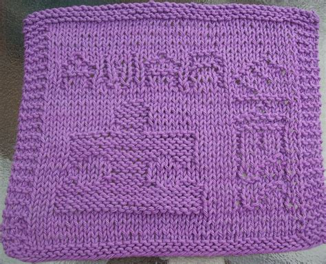 free knit dishcloth patterns digknitty designs autism awareness free knit dishcloth