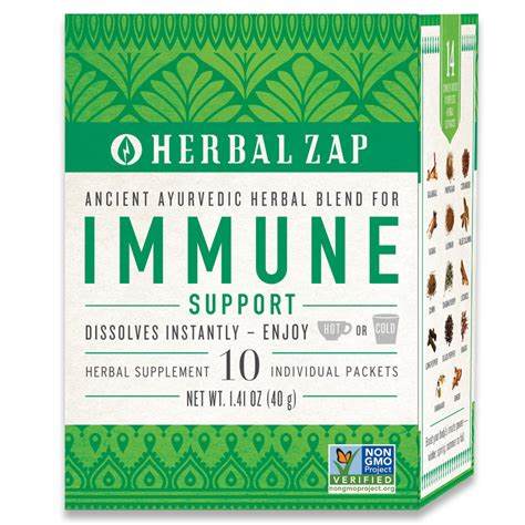 Herbal Zap Detox Review by Immune Support 10ct Box Herbal Zap Ancient Ayurvedic Blends