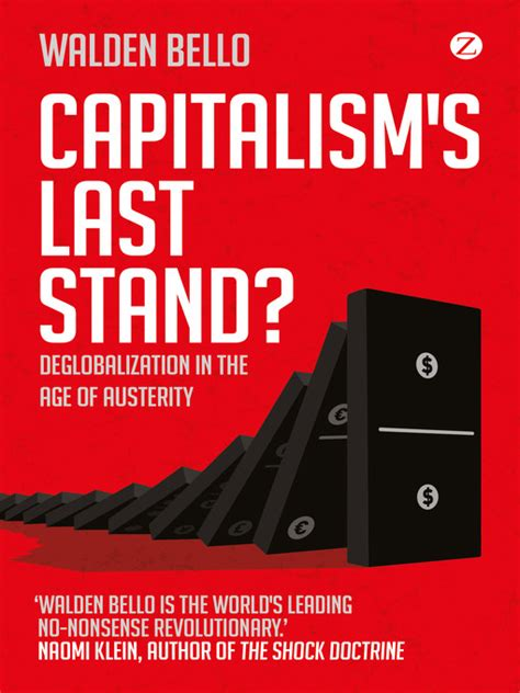 walden bello books europp book review capitalism s last stand