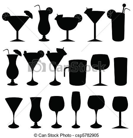 cocktail clipart black and white alcohol glasses clipart