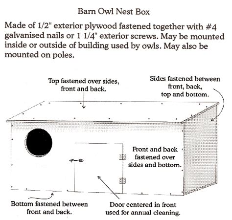 barn owl house plans barn owl nest box plan btc pinterest nest box owl and bird houses
